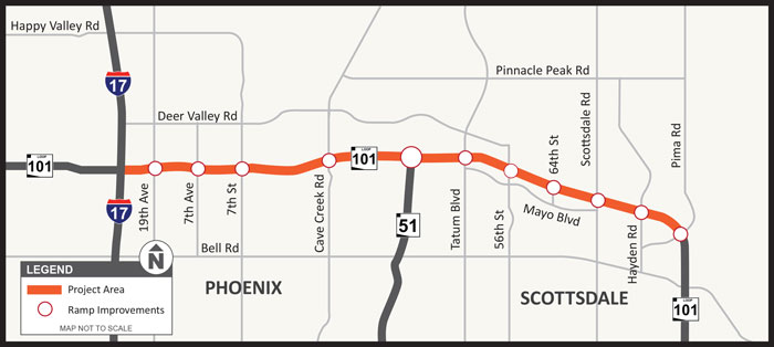 Loop 101 Project Map Courtesy of ADOT