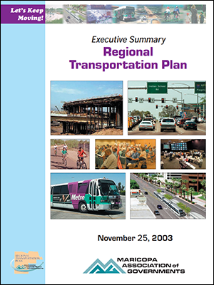 View the 2003 Executive Summary Regional Transportation Plan