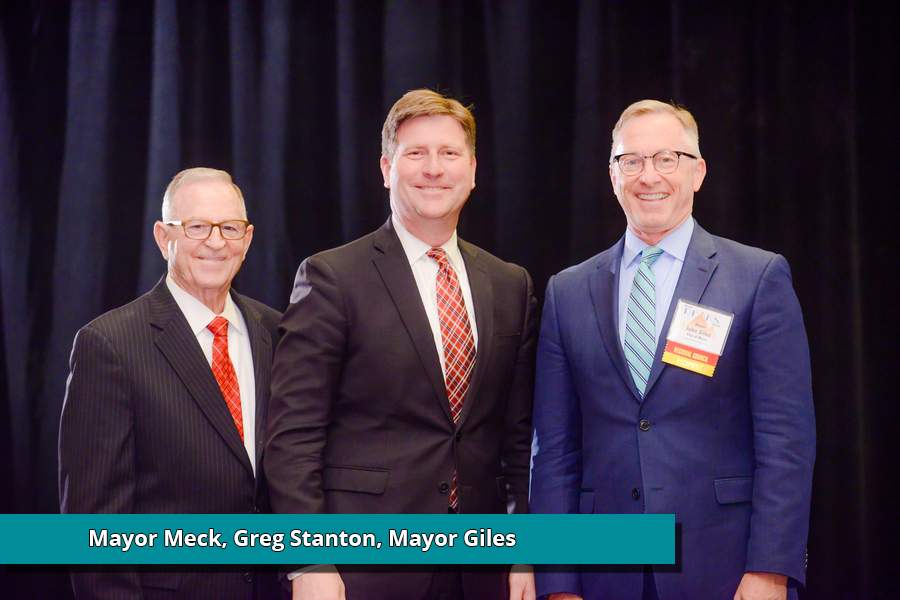 Mayor Meck, Mayor Stanton, and Mayor Giles