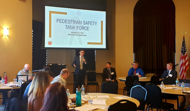 Phoenix Deputy City Manager Mario Paniagua opens local pedestrian safety panel