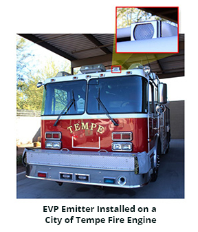 EVP Emitter Installed on a City of Tempe Fire Engine